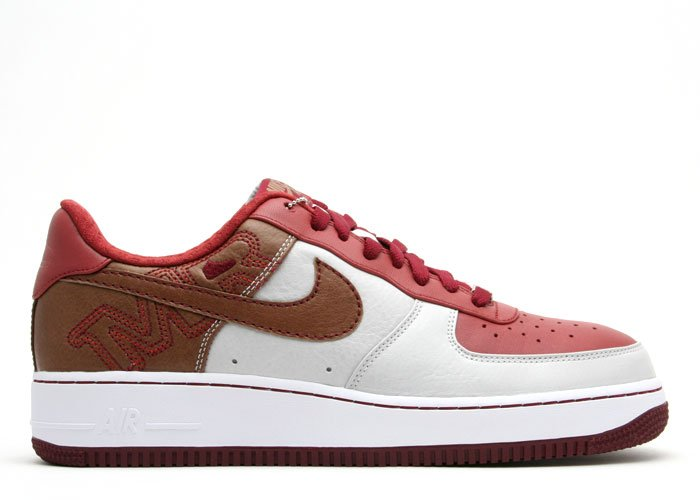Air Force One Low - white/pinenut-terra cotta-team red
