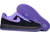 Air Force One Low - black / varsity purple / orange blaze