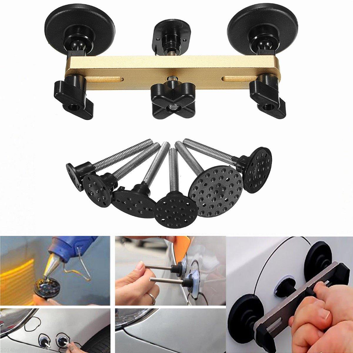 7pcs Car Bridge Dent Puller Remover Repair Hand Tool Kit