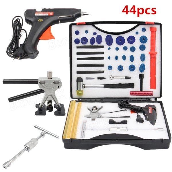 44pcs PDR Car Body Dent Paintless Repair Tool Kit Removal Puller Lifter Slide Hammer Glue Gun