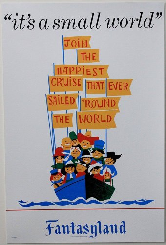 "DISNEYLAND RESORT ""IT'S A SMALL WORLD"" CLASSIC ATTRACTION POSTER PRINT"