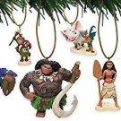 Disney Moana 6 pc Ornament Set