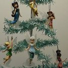Set of 6 Tinker Bell and Friends Christmas Tree Ornaments Featuring Periwinkle,