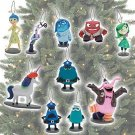 Disney Pixar Inside Out 10 Piece Ornament Set Featuring, Sadness, Anger, Fear, B