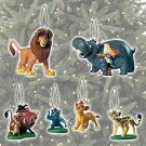 Disney The Lion Guard Exclusive PVC 6 PC Ornament Set Include Simba and son Kion