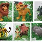 Lion King Lion Guard Christmas Ornament Set - Shatterproof Plastic Ornaments 2""