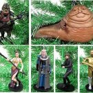 Star Wars RETURN OF THE JEDI 6 Piece Ornament Set Featuring Princess Leia, Luke