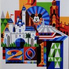 "DISNEYLAND RESORT ""2014"" CLASSIC ATTRACTION POSTER REPRINT ATTRACTION ICONS RIDE"
