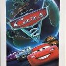 "DISNEY PARKS PIXAR ""CARS 2"" ORIGINAL MOVIE POSTER REPRINT LIGHTNING McQUEEN RACE"