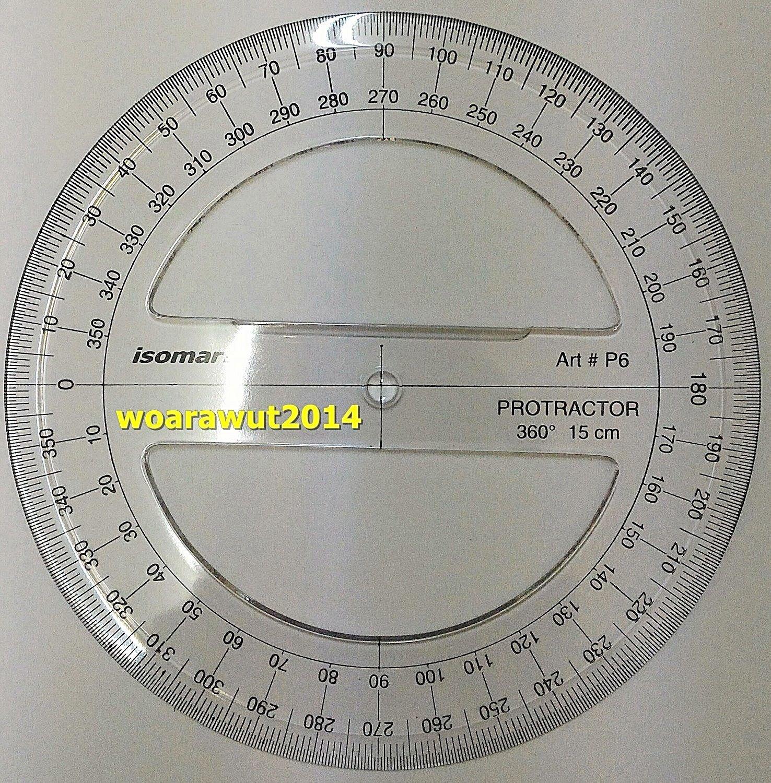Isomars Full circle protractor diameter 15 cm 360 degree protractor