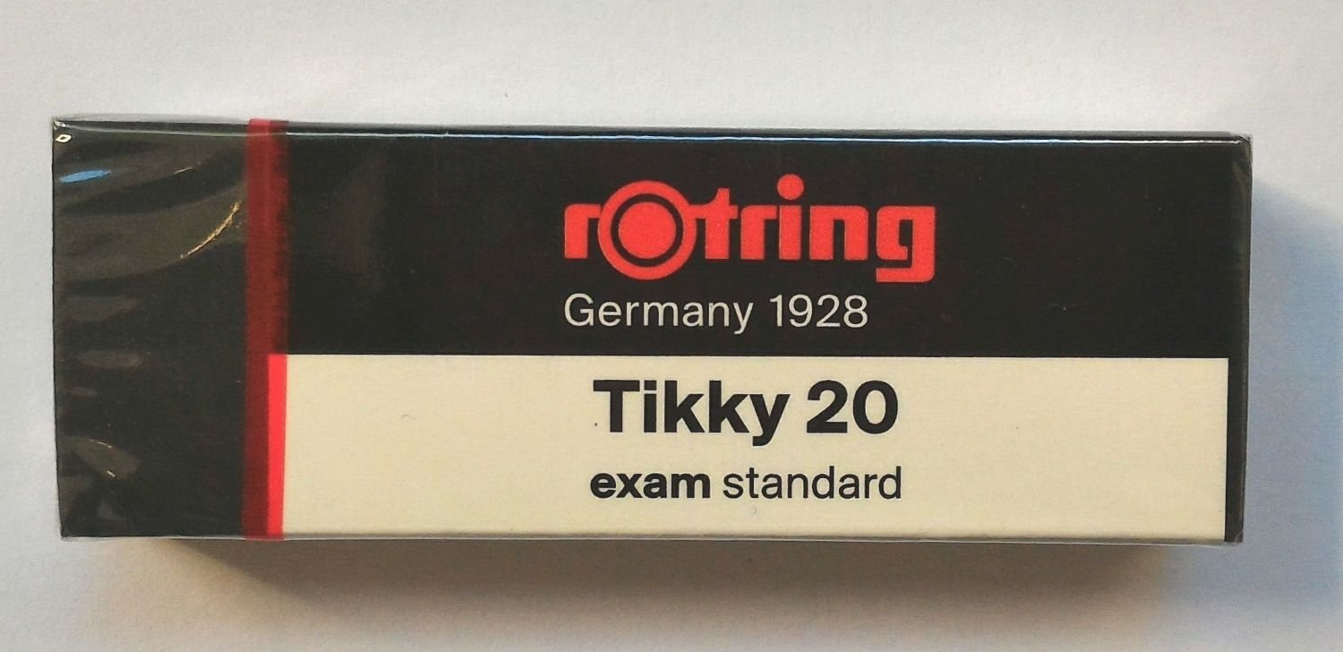 Rotring Big dust-free eraser Tikky 20 Clean erasing on exam sheet 2 pieces