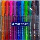 Staedtler 432 triangular ballpoint pens 10 brilliant colors 0.45 mm tip