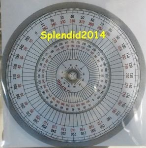 Full circle protractor diameter 15 cm 360 degree protractor