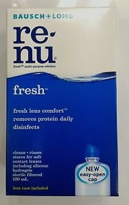 BAUSCH & LOMB renu fresh multi-purpose solution clean rinse contact lens 120 ml