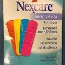 Nexcare Neon color Hypoallergenic Plastic Adhesive Bandage 5 pack (45 pieces)