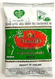Milk Green Tea Cha tra Mue No 1 Brand Thai Favorite Original for Cold /Hot  200g