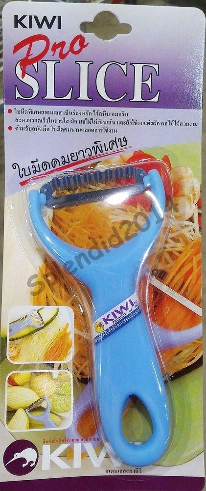Kiwi Pro Slice making Thai Papaya salad ZigZag Blade fabricating fruit vegetable