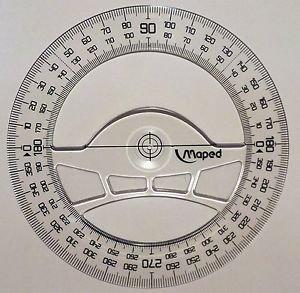 Maped Full circle protractor diameter 12 cm 360 degree protractor