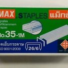MAX STAPLES No.35-1M 26/6 ( 11.5 x 6 mm) 1000's genuine  for stapler