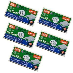 MAX STAPLES No.10-1M 27/4.8 ( 5 mm leg length) 5 boxes (5x1000) for stapler