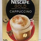 NESCAFE GOLD CAPPUCCINO COFFEES Finely ground roasted Arabica 10 sticks x 20.5 g