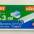 MAX STAPLES No.3-1M ( 11.5 x 6 mm) 24/6 1000's genuine  for stapler