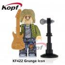 Kurt Cobain Grunge Icon Doll Singer Legend Blocks Minifigure Collectible Toy