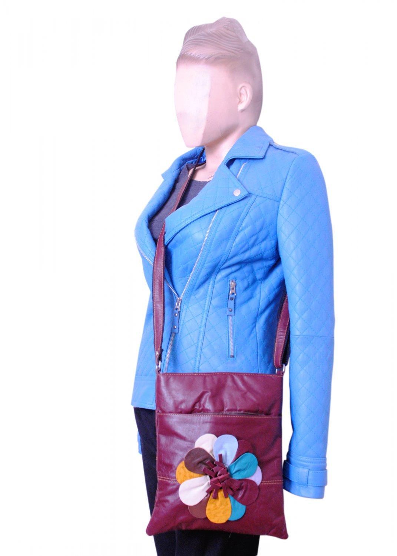 Crossbody Shoulder Bag Purse Cow Leather Long Strap Purses Bag