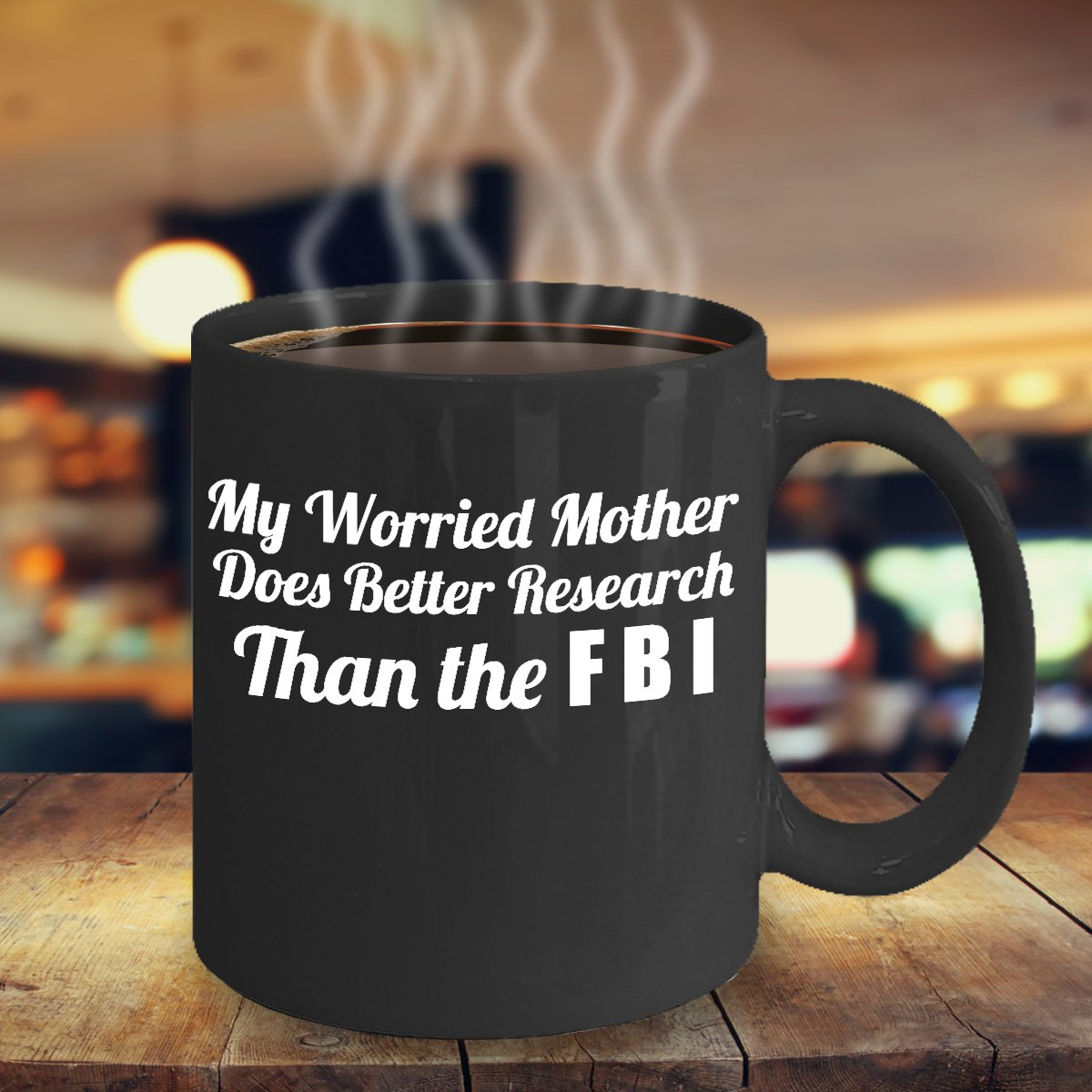 TeesCloset Funny Dishwasher & Microwave Safe Ceramic Mugs for Mom on Mother's Day or Birthday