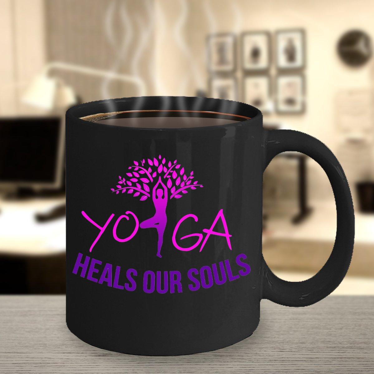 TeesCloset Yoga Gifts for Women : Yoga Coffee Mugs - Yoga Mugs (11oz)