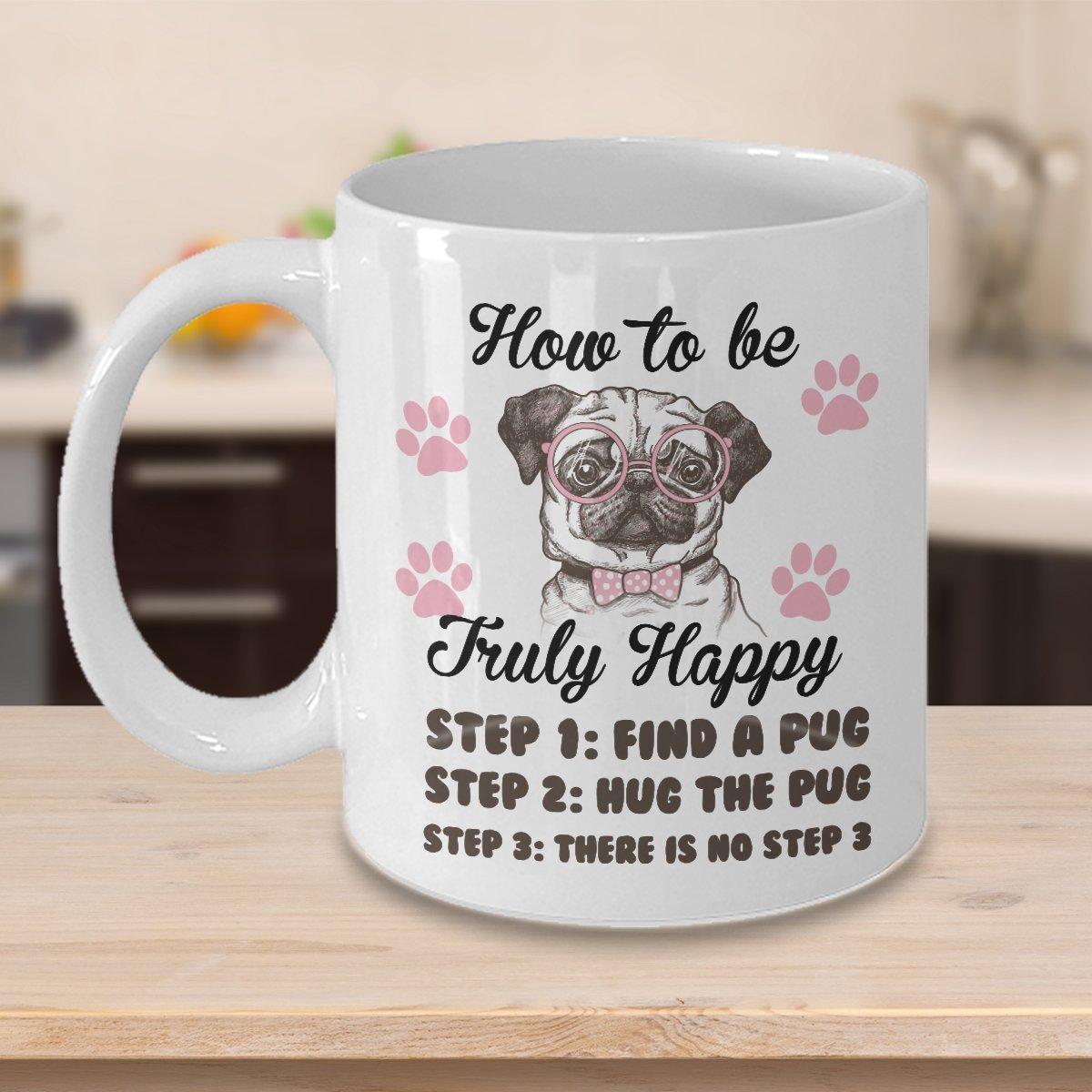 TeesCloset Funny Gift for Pug Lovers - Funny Pug Mugs - Cute Coffee Mugs for Pug Owners