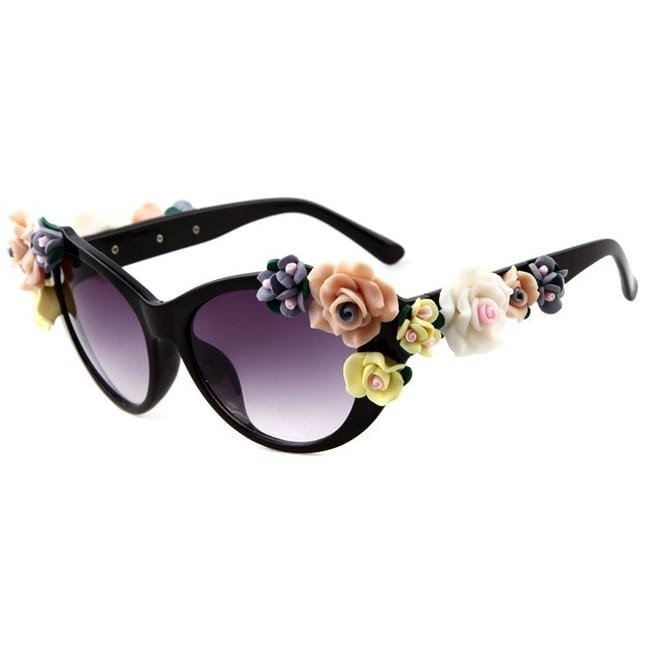Summer Fashion Floral Polarized Sunglasses for Summer Vacations