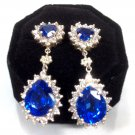 CZ heart shape blue and drops blue of silver 925 earrings are a gift for your loved ones.