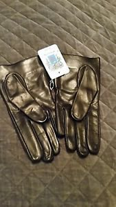 Portolano Women's 2BF9679 Leather Gloves - Black Size: 7.5 7 1/2