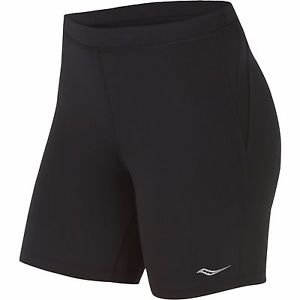 Saucony Women's Ignite Tight Shorts, Black/Black Size XL