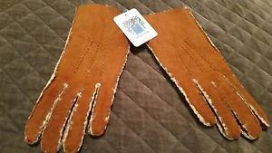 Portolano Women's Leather Glove, Chestnut, 7 M US
