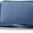 SOCIETY NEW YORK Women's Zip Around Wristlet, Navy