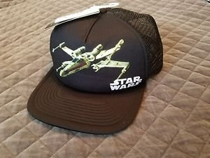 Star Wars TIE Fighter Logo Licensed Adult Mesh Trucker Cap - White/Black