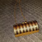 Unique Vintage Gold Purse*Clutch*Handbag Evening Deco/Funky Retro