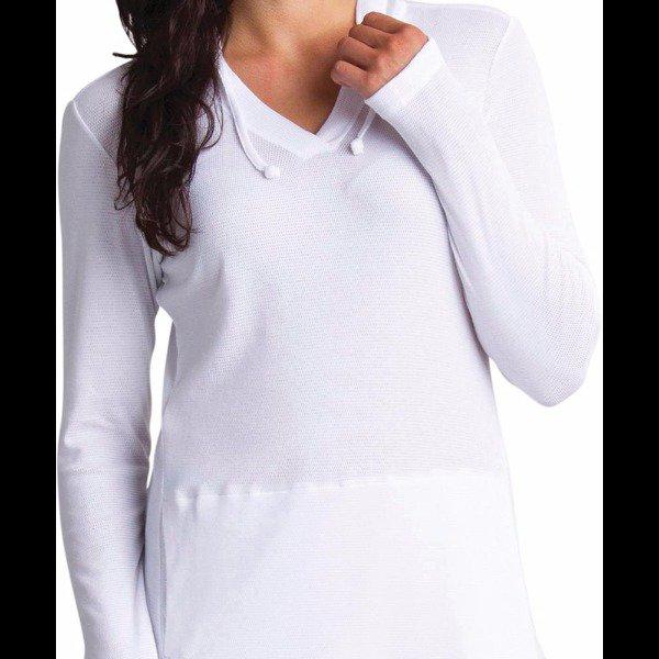 Exofficio Women's Bugsaway Lumen Hoody, White, X-Small