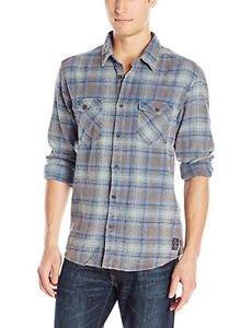 Quiksilver Men's Sharkaddict Long Sleeve Shirt, Shark Addict Federal Blue, XL