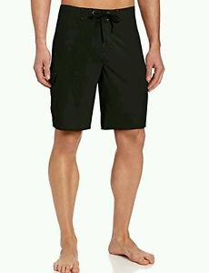 Kahala Men's Shoreline 4-Way Stretch Boardshort, Black, 32