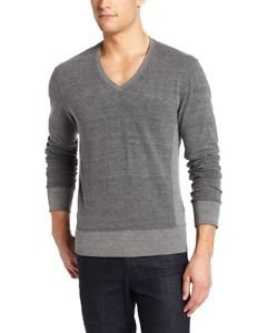 Aviator Men's V-Neck French Terry, Gray, Medium