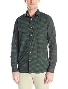 Benson Men's Marvin One Pocket Woven Shirt, Green Dot, Medium