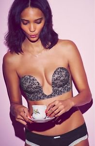 U plunge lace backless strapless bra B cup NEW