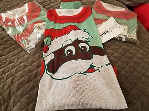 Faux Real NWOT Black Santa Mens Size Medium Graphic Crewneck XL T-shirt