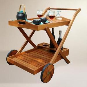 Eucalyptus Wood Serving Cart
