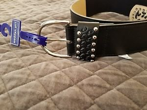MADDEN GIRL STUD STRETCH BELT-Small/Medium  Black
