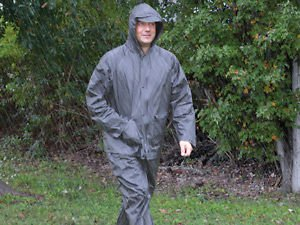 All-Weather Rain Suit Large, Gray by Ultimate Survival Technologies Adult