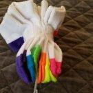 -Disney Frozen Girls 6 pk No Show Socks (4-6 (Shoe Size 7-10, Lurex Elsa Olaf